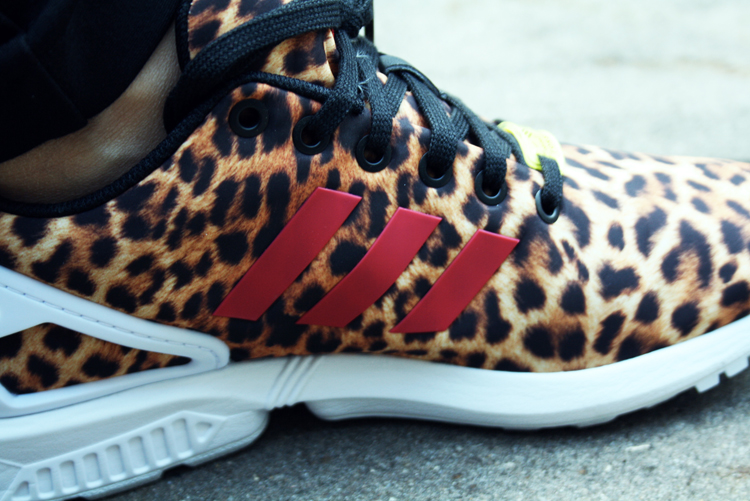 Adidas flux leopard running shoes  2458