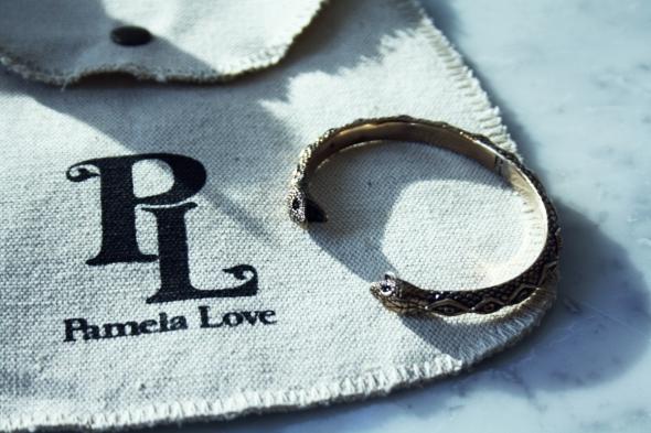 Pamela Love bracelet Bangle gold snake serpent armband