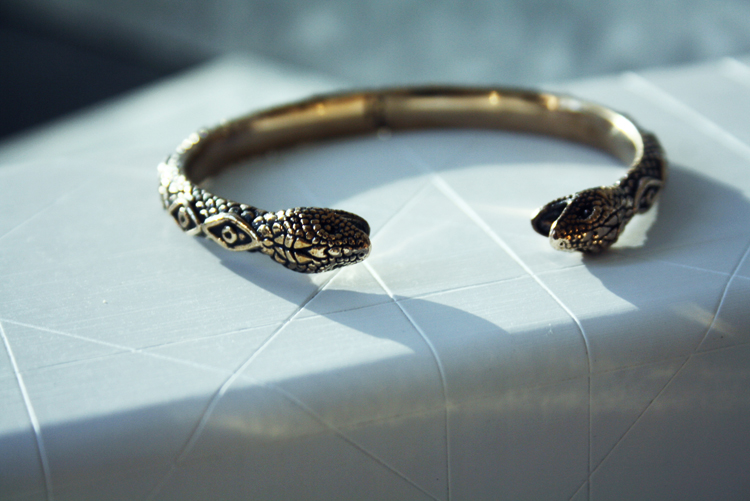 Pamela Love bracelet Bangle gold snake1260