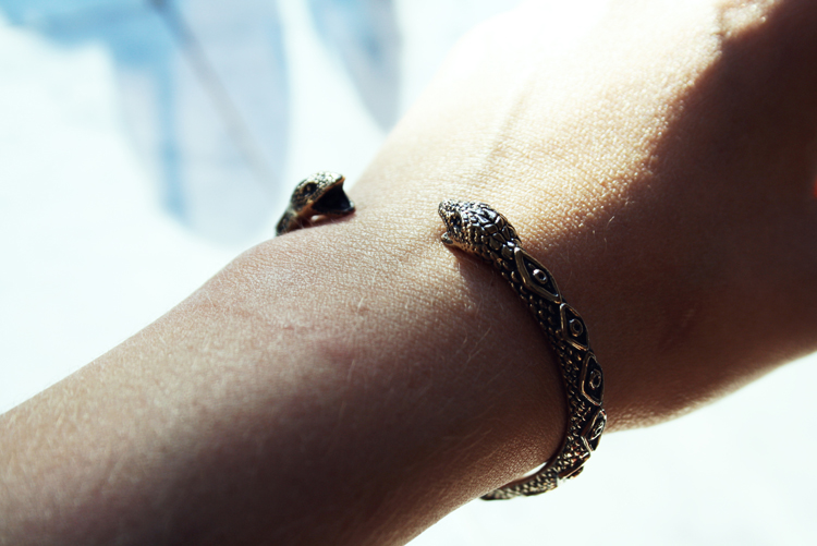 Pamela Love bracelet Bangle gold snake serpent armband