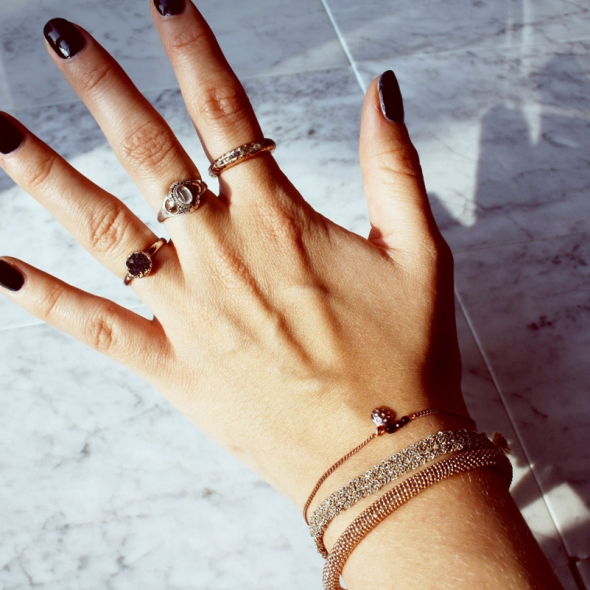 Jewelry stacking ring bracelet