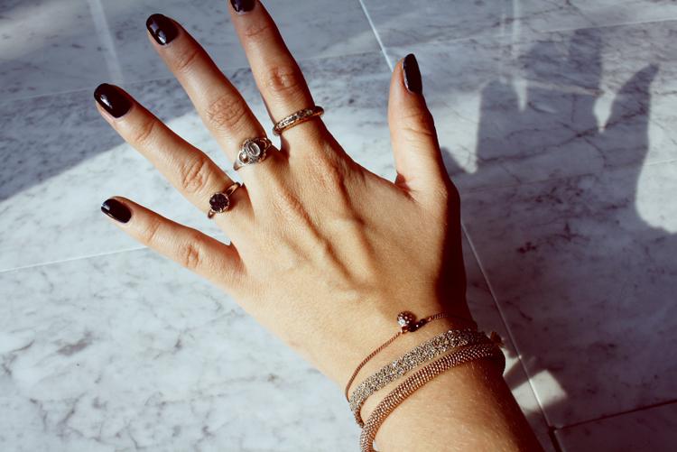Jewelry stacking ring bracelet