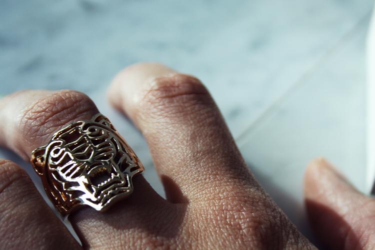 Kenzo ring Lion gold
