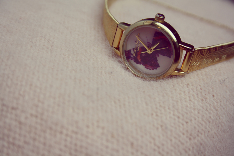 Olivia Burton watch gold vintage butterlfly