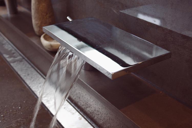 Bathroom nature stone glass seiling