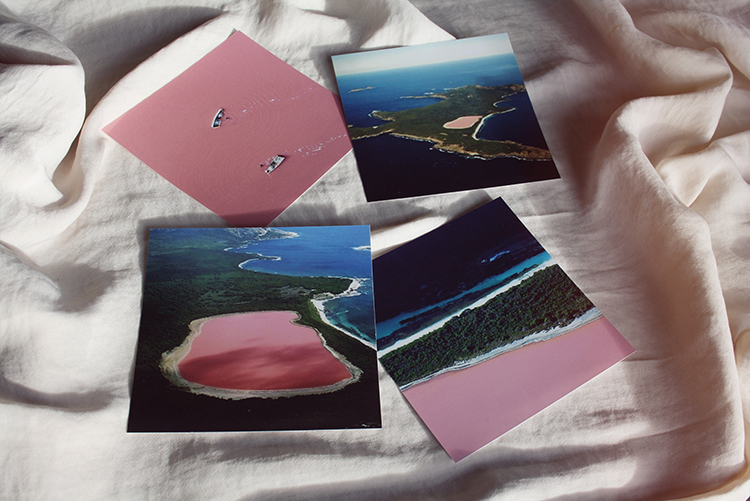 Pink lakes, lake Hillier and the Hutt Lagoon
