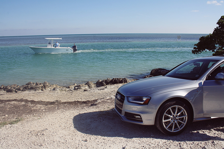 Silver Car fashion blogger review Audi