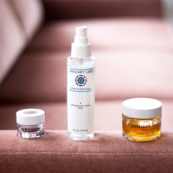 January Labs skin care natural fashion blogger
