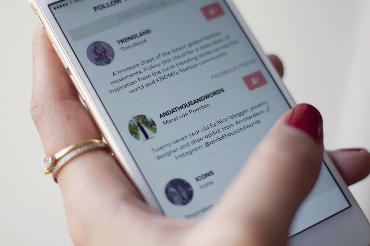 KNOMI app Online store Fashion blogger