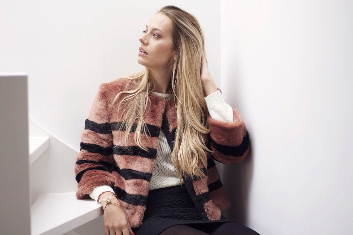 Fashion blogger Ainea Faux fur obsessed