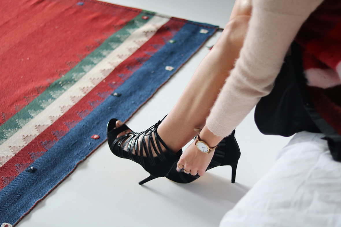 Fashion blogger Bullboxer Shoes strappy heels