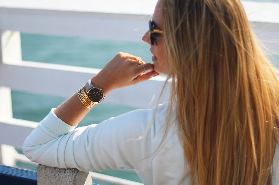 Cluse watches Fashion blogger Malibu farm