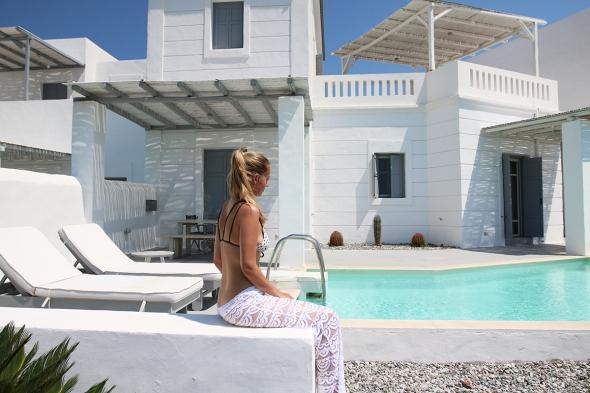 White Village hotel rhodes greece blogger Luxury Villa pool