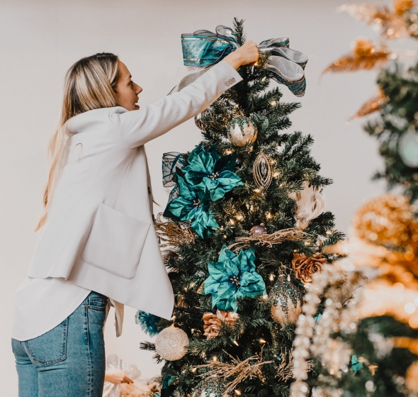 Goodwill Christmas Decorations Tree event