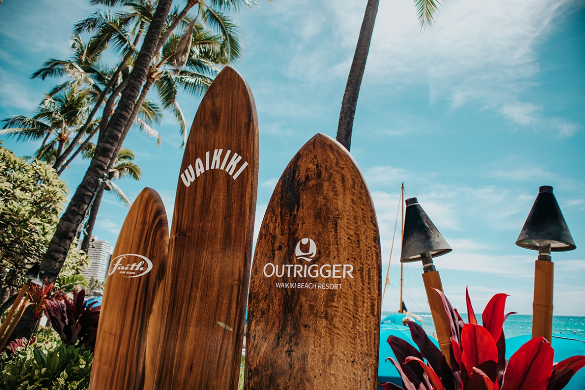 Review Outrigger Resort Waikiki Voyager 47 lounge Merel